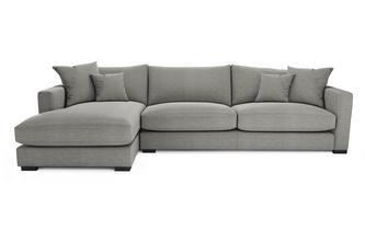 Smart Weave Left Hand Facing Large Chaise End Sofa Dillon Smart Weave