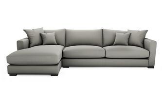 Soft Plain Left Hand Facing Large Chaise End Sofa Dillon Soft Plain