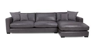 Dillon Leather Right Hand Facing Large Chaise End Sofa | DFS Spain