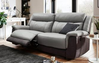 Dinsdale 3 Seater Manual Recliner Bacio Vellutato