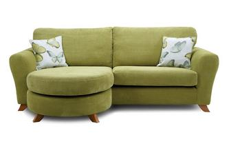 Formal Back 4 Seater Lounger Sofa Dion