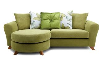 Pillow Back 4 Seater Lounger Sofa Dion