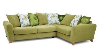Dion Pillow Back Left Hand Facing 3 Seater Corner Sofa