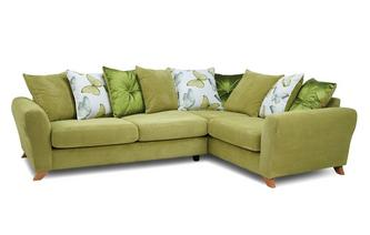 Pillow Back Left Hand Facing 3 Seater Corner Sofa Dion