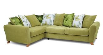 Dion Pillow Back Right Hand Facing 3 Seater Corner Sofa