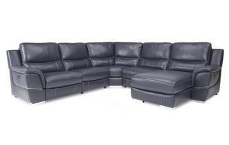 Right Hand Facing Power Chaise Corner Sofa New Club Contrast