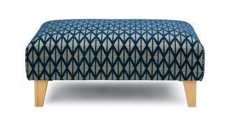 Dominique Pattern Banquette Footstool