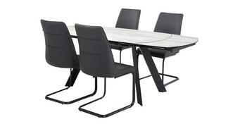 Dorada Extending Dining Table & Set of 4 Chairs
