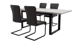 Duplex Rectangular Extending Table and Set of 4 Chairs
