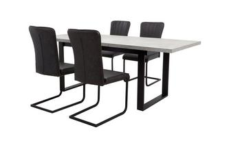 Rectangular Extending Table and Set of 4 Chairs Duplex