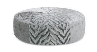 Dynasty Round Pattern Footstool