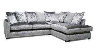 Dynasty Pillow Back Left Hand Facing Arm 3 Seat Corner Sofa