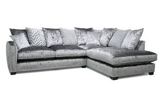 Pillow Back Left Hand Facing Arm 3 Seat Corner Sofa Dynasty