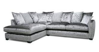 Dynasty Pillow Back Right Hand Facing Arm 3 Seat Corner Sofa