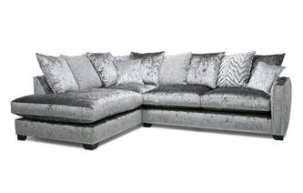 Pillow Back Right Hand Facing Arm 3 Seat Corner Sofa Dynasty