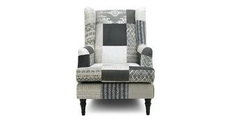 Earle Patch High Back Wing Chair