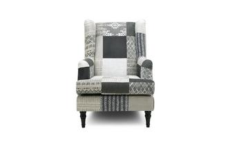 Patch High Back Wing Chair Earle Patch