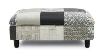 Earle Patch Storage Banquette Footstool