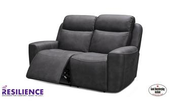 Fabric 2 Seater Power Recliner with Headrests