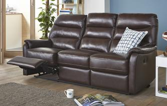 Elegant 3 Seater Manual Recliner Select