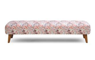 Large Pattern Bench Stool