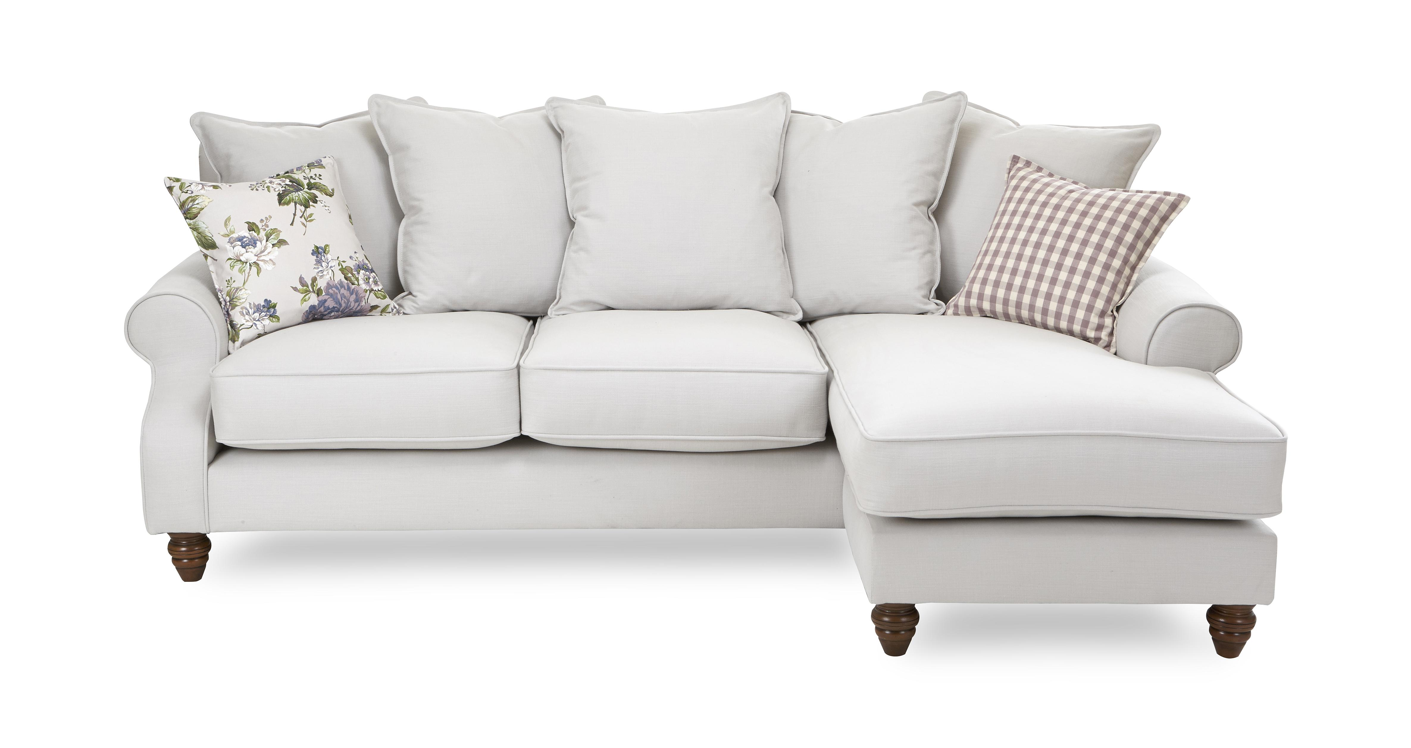 Ellie Plain Right Hand Facing 4 Seater Chaise End Sofa