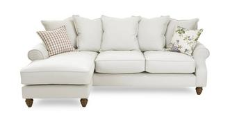 Ellie Plain Left Hand Facing 4 Seater Chaise End Sofa