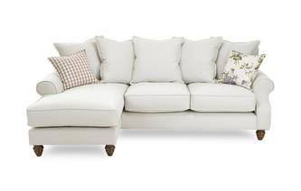 Plain Left Hand Facing 4 Seater Chaise End Sofa Ellie Plain