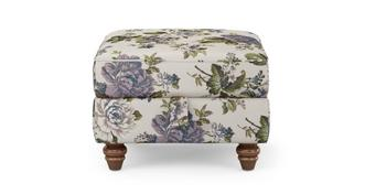 Ellie Floral Storage Footstool
