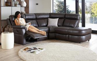 Ellis Option B Left Arm Facing 2 Piece Manual Recliner Corner Sofa Essential