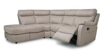 Ellis Fabric Option K Right Arm Facing 2 Piece Manual Recliner Corner Sofa