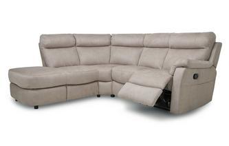 Fabric Option K Right Arm Facing 2 Piece Manual Recliner Corner Sofa Arizona