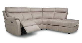 Ellis Fabric Option P Left Arm Facing 2 Piece Power Recliner Open End Corner Sofa