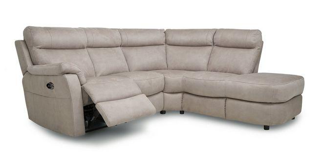 Ellis: Fabric Option P Left Arm Facing 2 Piece Power Recliner Open End  Corner Sofa