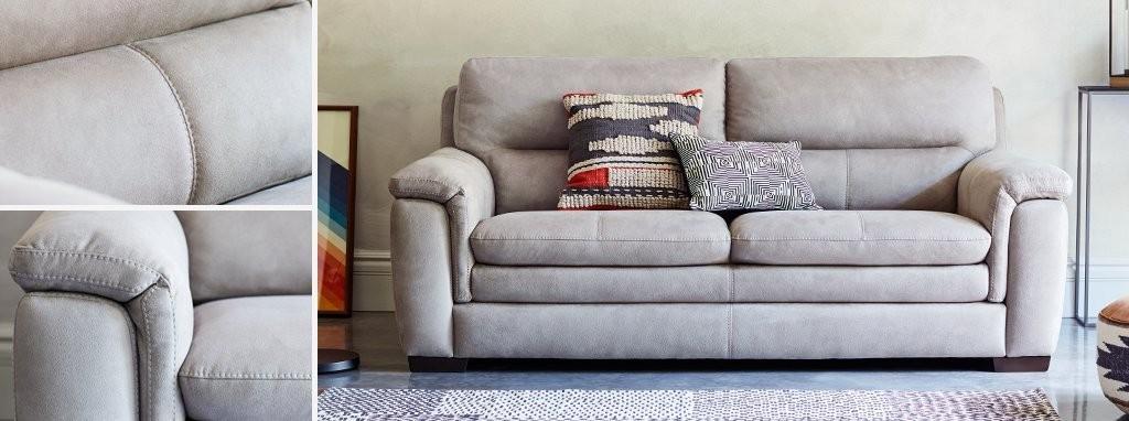 Groovy Elm Fabric 3 Seater Sofa Dailytribune Chair Design For Home Dailytribuneorg
