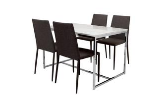 Fixed Top Dining Table and 4 Zenn Chairs Elsa