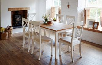 Evesham Rectangular Dining Table & 4 Chairs Evesham