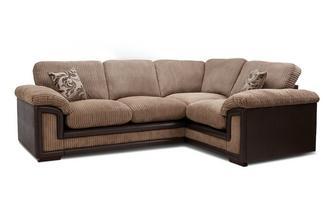 Left Hand Facing 2 Seater Formal Back Corner Sofa