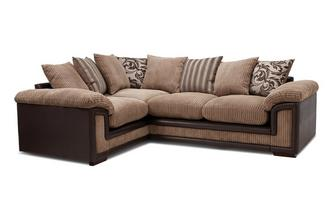 Right Hand Facing 2 Seater Pillow Back Corner Sofa
