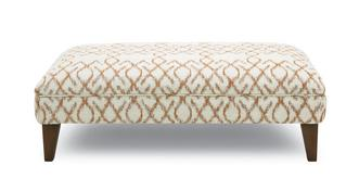 Ezra Pattern Banquette Footstool