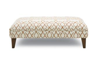 Pattern Banquette Footstool Ezra