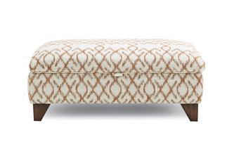 Pattern Large Storage Footstool Ezra