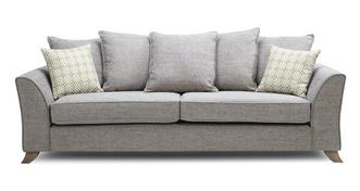 Fenton Pillow Back 4 Seater Sofa