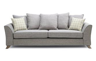 Pillow Back 4 Seater Sofa Fenton