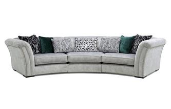 3 Piece Curved Sofa Ffion Plain