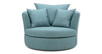 Finn Large Swivel Chair with 2 Plain Scatters