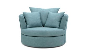 Large Swivel Chair with 2 Plain Scatters Revive