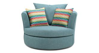 Finn Large Swivel Chair with 2 Pattern Scatters