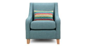 Finn Accent Chair with 1 Pattern Bolster