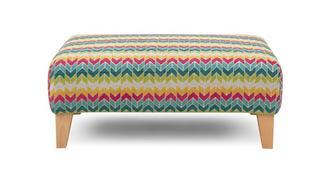 Finn Pattern Banquette Footstool